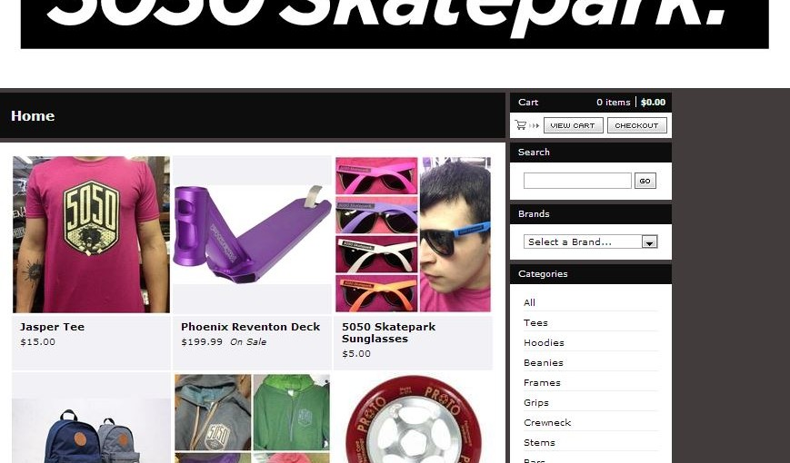 Hurry! 20 Percent off anything from 5050 Skatepark Online Store only!